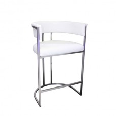 Jost Stainless Steel Bar Stool With Cream PU BC180