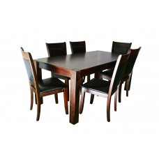 Jost Solid Wood Dining Set BE2515T-D with 6 chairs BE1695C-D