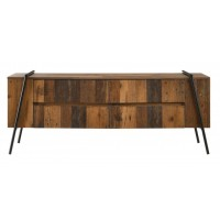 Rustique old Style Tv Stand with 4 Drawers-TV900021