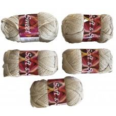 Fancy Fish Net Knitting Yarn Cream color # 6