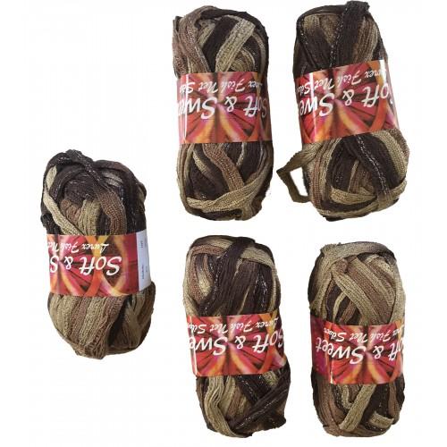 Lurex Fish Net Brown color # 211