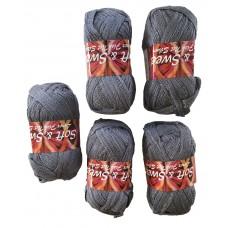 Lurex fish net grey color # 80