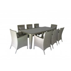 Pina Grey Pation Dinning 8 Seater