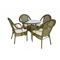 Jost Round Garden Table with 4 Chairs